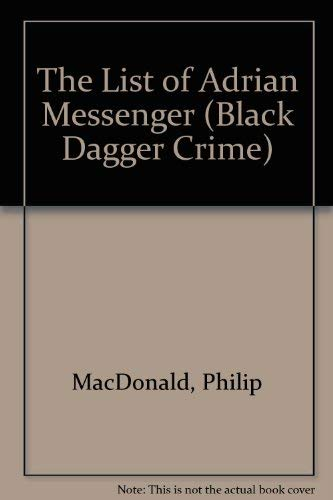 9780862208349: The List of Adrian Messenger (Black Dagger Crime)