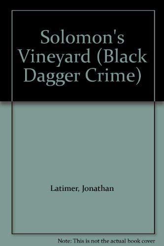 9780862208424: Solomon's Vineyard (Black Dagger Crime)