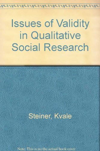 9780862382124: Issues of Validity in Qualitative Social Research