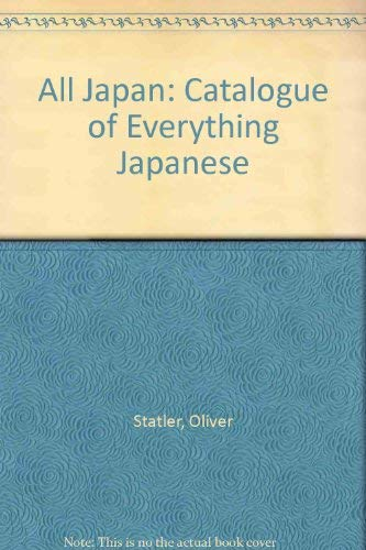 9780862870737: All - Japan: The Catalogue Of Everything Japanese