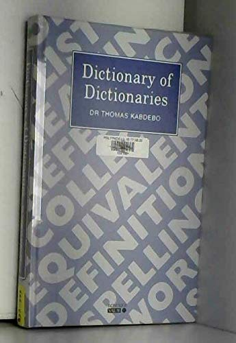 9780862917753: Dictionary of Dictionaries