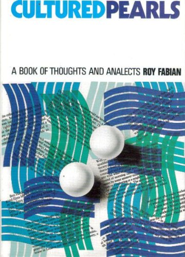 9780863034060: Cultured Pearls: A Book of Thoughts and Analects