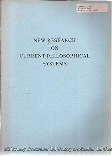 9780863040160: New Research on Current Philosophical Systems