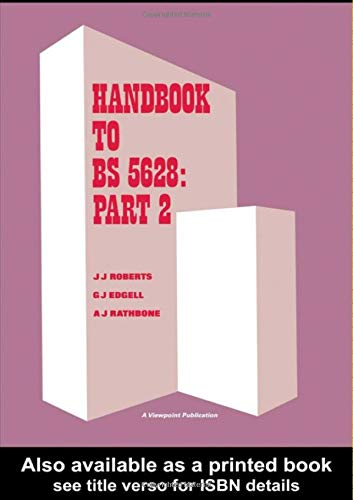 9780863100208: Handbook to BS 5628: Part 2: Structural use of reinforced and prestressed masonry
