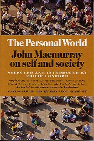 9780863152368: The Personal World: John Macmurray on Self and Society