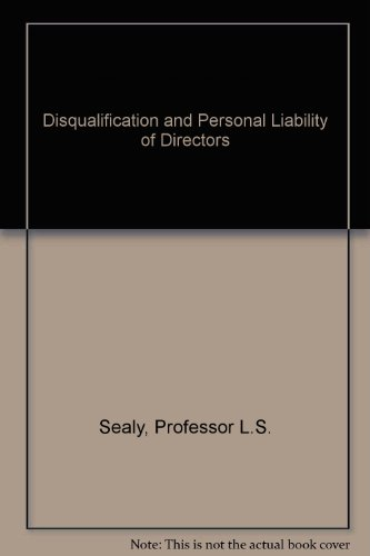 9780863253164: Disqualification and Personal Liability of Directors