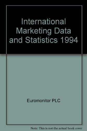 9780863384622: International Marketing Data and Statistics 1993 (International Marketing Data & Statistics)