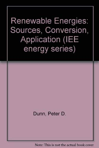 9780863410390: Renewable Energies: Sources, Conversion and Application (Iee Energy Series, Vol 2)
