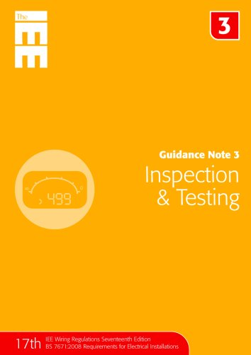 9780863418570: Guidance Note 3: Inspection and Testing (Guidance Notes for Bs 7671)