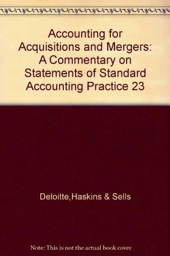 9780863490804: Accounting for Acquisitions and Mergers: A Commentary on Statements of Standard Accounting Practice 23