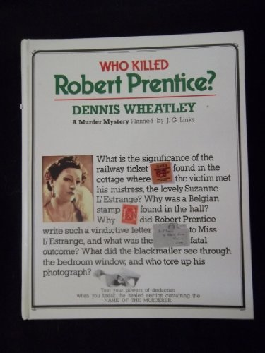 9780863501197: Who Killed Robert Prentice (A murder mystery)