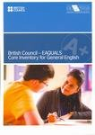 9780863556531: British Council - EAQUALS Core Inventory for General English