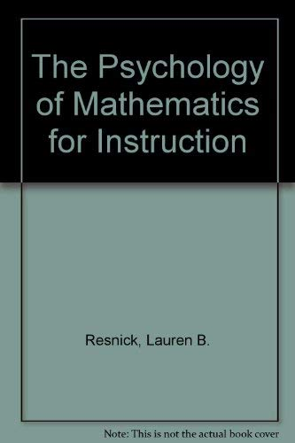 9780863770142: The Psychology of Mathematics for Instruction