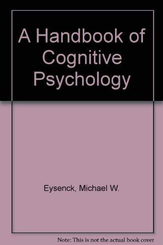 9780863770166: A HANDBOOK OF COGNITIVE PSYCHOLO