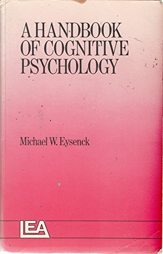 A Handbook Of Cognitive Psychology (9780863770173) by Michael W. Eysenck
