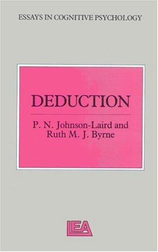 9780863771484: Deduction (Essays in Cognitive Psychology)