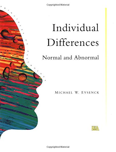 9780863772566: Individual Differences: Normal And Abnormal (Principles of Psychology)