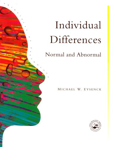 9780863772573: Individual Differences: Normal And Abnormal: Volume 13 (Principles of Psychology S.)