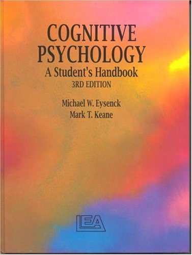 9780863773754: Cognitive Psychology: A Student's Handbook