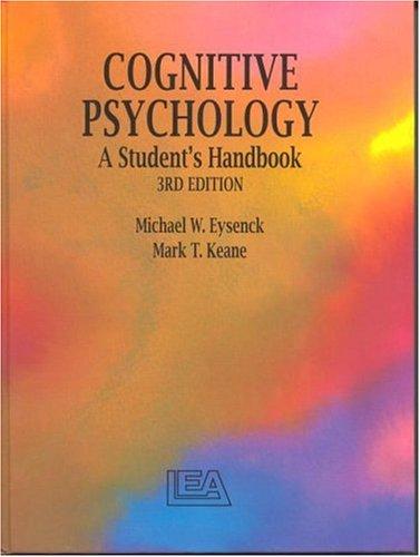9780863773754: Cognitive Psychology: A Student's Handbook