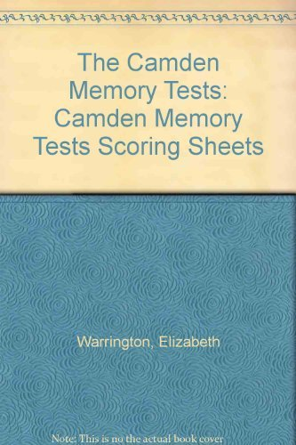 9780863773808: Camden Memory Tests Scoring Sheets (Volume 1)