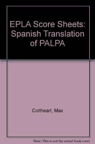9780863773891: EPLA Score Sheets: Spanish Translation of PALPA