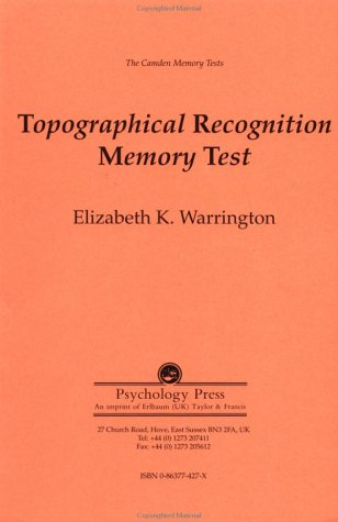 9780863774270: The Camden Memory Tests: Topographical Recognition Memory Test (Volume 7)