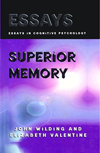 9780863774560: Superior Memory (Essays in Cognitive Psychology)