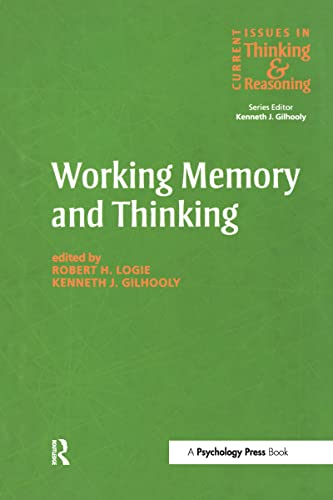 9780863775147: Working Memory and Thinking: Current Issues In Thinking And Reasoning