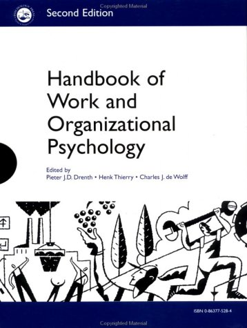 A Handbook of Work and Organizational Psychology; Set, Volumes 1-4