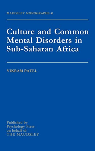 9780863775307: Culture And Common Mental Disorders In Sub-Saharan Africa (Maudsley Series)