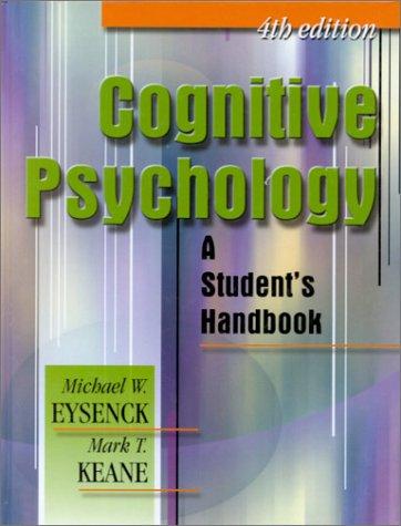 9780863775505: Cognitive Psychology: A Student's Handbook