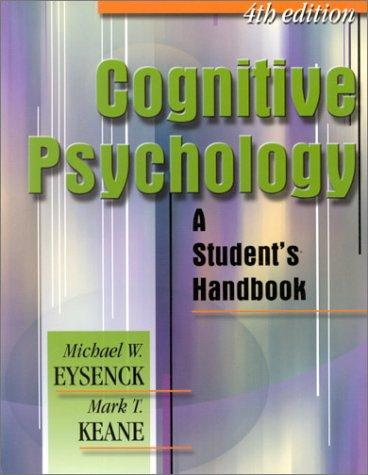 9780863775512: Cognitive Psychology: A Student's Handbook
