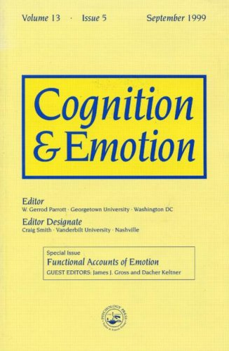 9780863776441: Functional Accounts of Emotion: A Special Issue of the Journal Cognitiona and Emotion