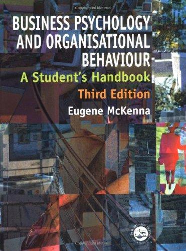 9780863776670: Business Psychology and Organisational Behaviour, 3rd Edition: A Student's Handbook