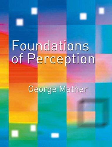 9780863778353: Foundations of Perception