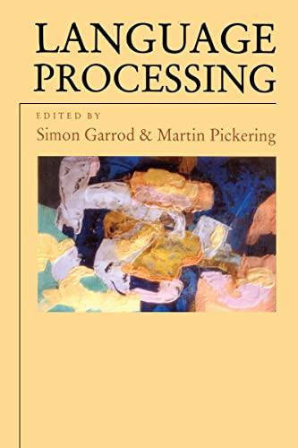9780863778377: Language Processing (Studies in Cognition)