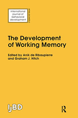 9780863779275: The Development of Working Memory: A Special Issue of the International Journal of Behavioural Development (International Journal of Behavioral Development)