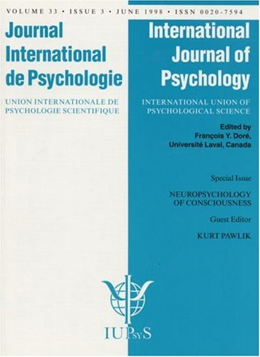 9780863779985: Neuropsychology of Consciousness: A Special Issue of the International Journal of Psychology (Special Issues of the International Journal of Psychology)