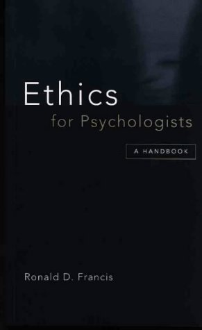 9780864313171: Ethics for Psychologists: A Handbook