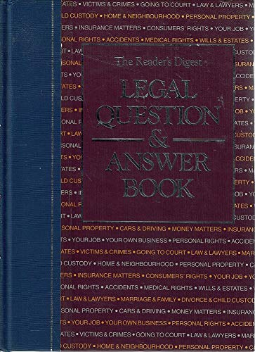 9780864381194: The Reader's Digest legal question & answer book