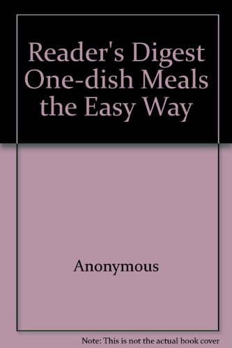 9780864387547: Reader's Digest One-dish Meals the Easy Way