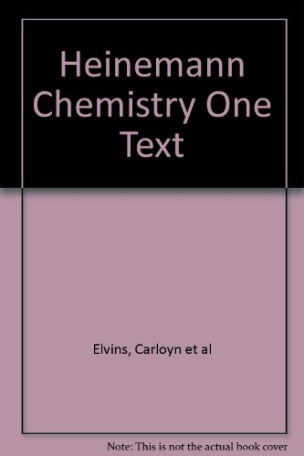 9780864624376: Heinemann Chemistry One Text