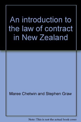 9780864724168: An introduction to the law of contract in New Zealand