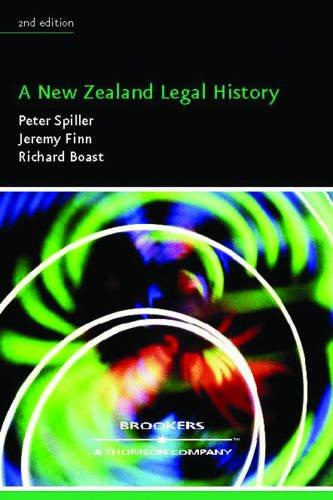 A New Zealand legal history (Paperback): Richard Boast