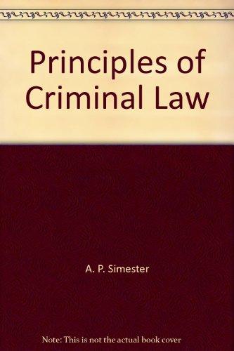 9780864724212: Principles of Criminal Law
