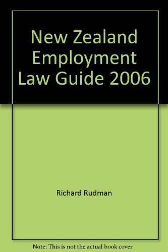9780864756275: New Zealand Employment Law Guide 2006