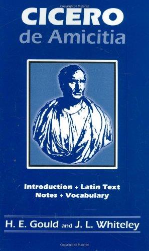 Cicero: de Amicitia: H. E. Gould