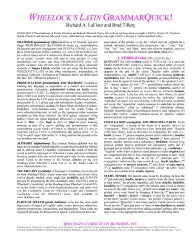 9780865166660: Wheelock's Latin GrammarQuick! (Latin Edition) (English and Latin Edition)