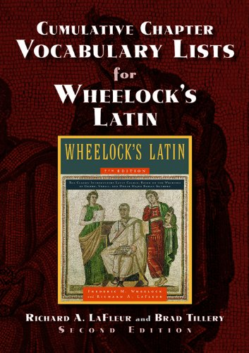 9780865167704: Cumulative Chapter Vocabulary Lists for Wheelock's Latin 2nd Ed.